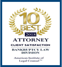 10 BEST Bankruptcy Attorney Badge - David Winterton Las Vegas NV